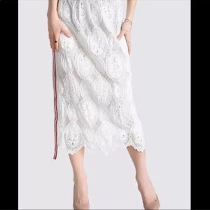 SALE Lace Midi Skirt